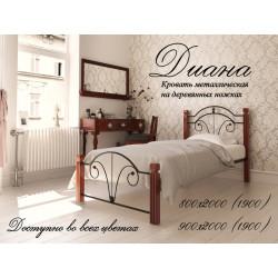 Кровать Диана на деревянных ножках Металл-Дизайн