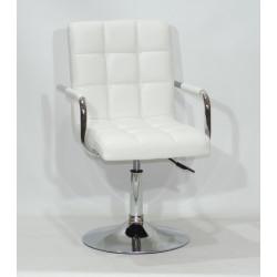 Кресло Onder Mebli Augusto Arm CH-Base ЭкоКожа Белый