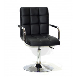 Кресло Onder Mebli Augusto Arm CH-Base ЭкоКожа Черный