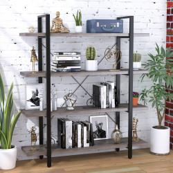 Стелаж Скіф-3-920 чорний метал Loft Design