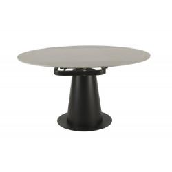 Керамический стол Vetro Mebel TML-831 грей стоун+черный