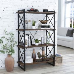 Стеллаж Скиф 4-920 черный металл Loft Design