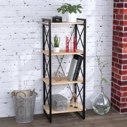 Стеллаж Скиф 4-550 черный металл Loft Design