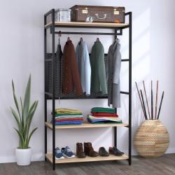 Стеллаж для одежды LV-100 черный металл Loft Design