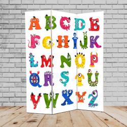 Ширма дитяча Кантрі 180х135 Англійський алфавіт