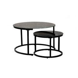 Комплект журнальных столов Vetro Mebel CS-25 Черный