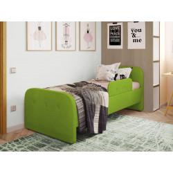 Дитяча м'яке ліжко з бортиком Viorina-Deko Teddy 02 Зелений