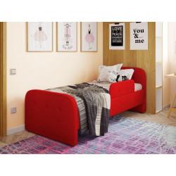 Детская мягкая кровать с бортиком Viorina-Deko Teddy 02 Красный