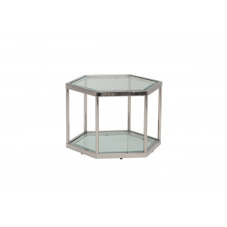 Стіл журнальний CK-3 срібло/прозорий Vetro Mebel