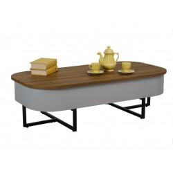 Журнальний стіл CT-15 (горіх/сірий) Vetro Mebel