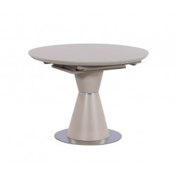 Стіл круглий ТМL-651-1 (105-145 см) матовий капучино Vetro Mebel