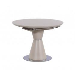 Стол круглый ТМL-65-1 (105-145 см) матовый капучино Vetro Mebel