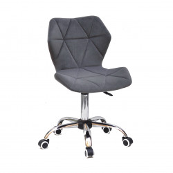 Крісло офісне Onder Mebli Torino CH-Office Оксамит Сірий B-1004