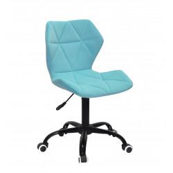 Крісло офісне Onder Mebli Torino BK-Office Оксамит Блакитний B-1019