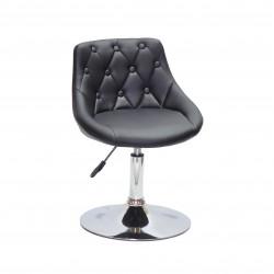 Кресло Onder Mebli Foro+Button ЭкоКожа Черный