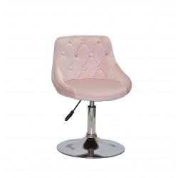 Кресло Onder Mebli Foro+Button CH-Base Бархат B-1021 Розовый