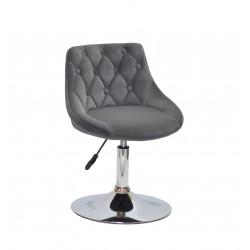 Кресло Onder Mebli Foro+Button CH-Base Бархат Серый B-1004