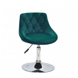 Кресло Onder Mebli Foro+Button CH-Base Бархат Голубой B-1019