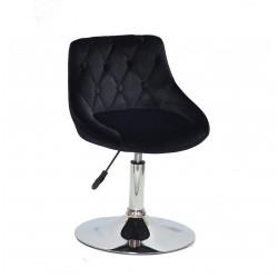 Кресло Onder Mebli Foro+Button CH-Base Бархат Черный B-1011