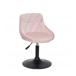 Кресло Onder Mebli Foro+Button BK-Base Бархат Розовый B-1021