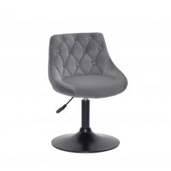 Кресло Onder Mebli Foro+Button BK-Base Бархат Серый B-1004