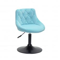 Кресло Onder Mebli Foro+Button BK-Base Бархат Голубой B-1019