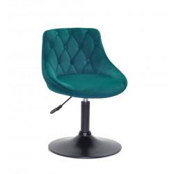 Кресло Onder Mebli Foro+Button BK-Base Бархат Зеленый B-1003