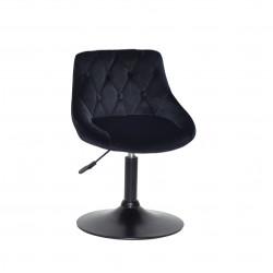 Кресло Onder Mebli Foro+Button BK-Base Бархат Черный B-1011