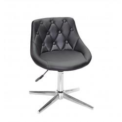 Кресло Onder Mebli Foro+Button Modern Base ЭкоКожа Черный