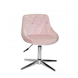 Кресло Onder Mebli Foro+Button Modern Base Бархат Розовый B-1021
