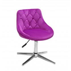Кресло Onder Mebli Foro+Button Modern Base Бархат Сирень B-1022
