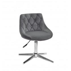 Кресло Onder Mebli Foro+Button Modern Base Бархат Серый B-1004