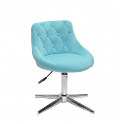 Кресло Onder Mebli Foro+Button Modern Base Бархат Голубой B-1019