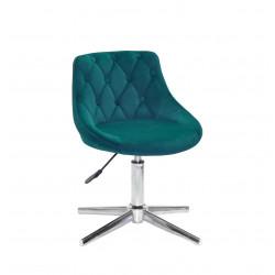 Кресло Onder Mebli Foro+Button Modern Base Бархат Зеленый B-1003