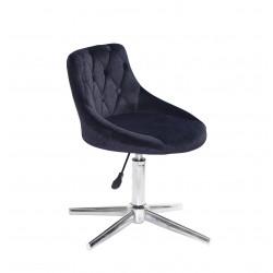 Кресло Onder Mebli Foro+Button Modern Base Бархат Черный B-1011