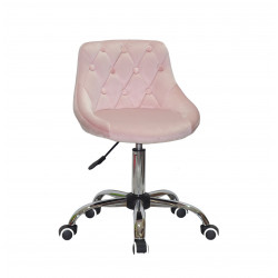 Кресло Onder Mebli Foro+Button CH-Office Бархат Розовый B-1021