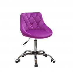 Кресло Onder Mebli Foro+Button CH-Office Бархат Сирень B-1022