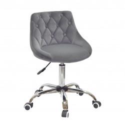Кресло Onder Mebli Foro+Button CH-Office Бархат Серый B-1004