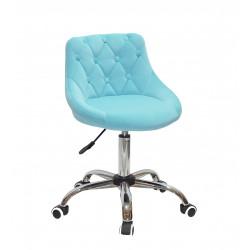 Кресло Onder Mebli Foro+Button CH-Office Бархат Голубой B-1019