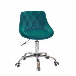 Кресло Onder Mebli Foro+Button CH-Office Бархат Зеленый B-1003