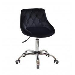 Кресло Onder Mebli Foro+Button CH-Office Бархат Черный B-1011