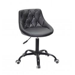 Кресло Onder Mebli Foro+Button BK-Office ЭкоКожа Черный
