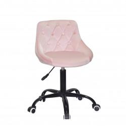Кресло Onder Mebli Foro+Button BK-Office Бархат Розовый B-1021