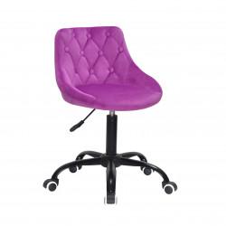 Кресло Onder Mebli Foro+Button BK-Office Бархат Сирень B-1022