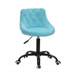 Кресло Onder Mebli Foro+Button BK-Office Бархат Голубой B-1019