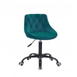 Кресло Onder Mebli Foro+Button BK-Office Бархат Зеленый B-1003