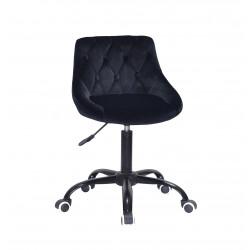 Кресло Onder Mebli Foro+Button BK-Office Бархат Черный B-1011