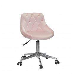 Кресло Onder Mebli Foro+Button Modern Office Бархат Розовый B-1021