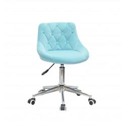 Кресло Onder Mebli Foro+Button Modern Office Бархат Голубой B-1019