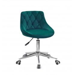 Кресло Onder Mebli Foro+Button Modern Office Бархат Зеленый B-1003